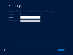 Windows Server 2012 Administrator Password