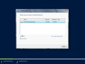 Windows Server 2012 Drive Selection Screen