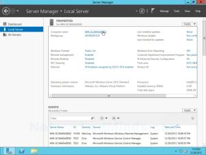 Windows Server 2012 Initial Configuration