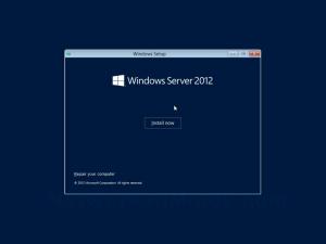Windows Server 2012 Install Screen