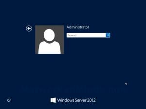 Windows Server 2012 Logon Screen
