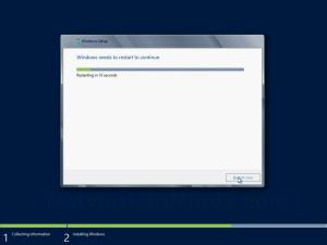 Windows Server 2012 Reboot Screen