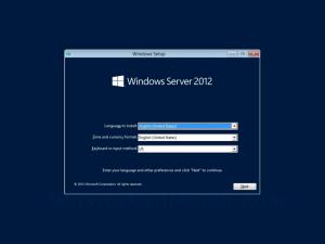 Windows Server 2012 Setup Program