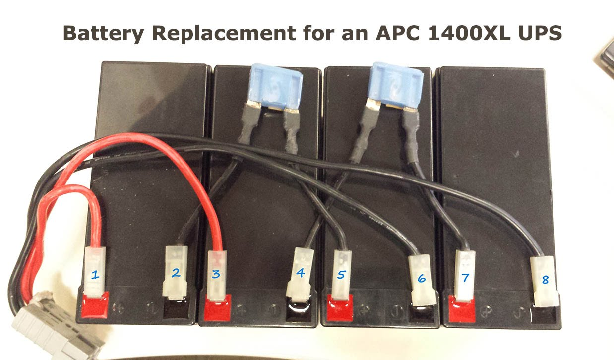 How To Replace Batteries on an APC 1400XL Rack Mount UPS with Wiring Diagram  - Networkedminds